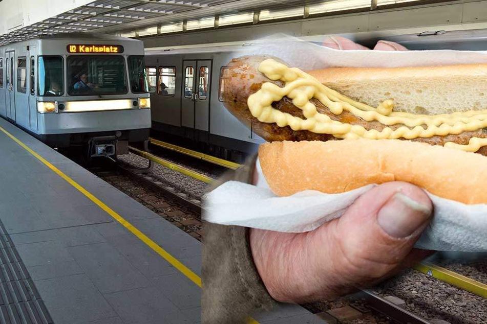 Ab 15. Januar ist in allen Wiener U-Bahn-Zügen auch die Bratwurst tabu. (Symbolbild)