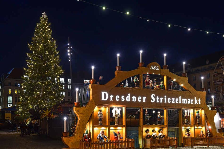 Dresden: Es werde Licht! Der Striezelmarkt erstrahlt wieder in vollem Glanz