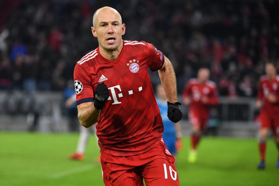Arjen Robben sorgte für die 1:0-Führung der Bayern.
