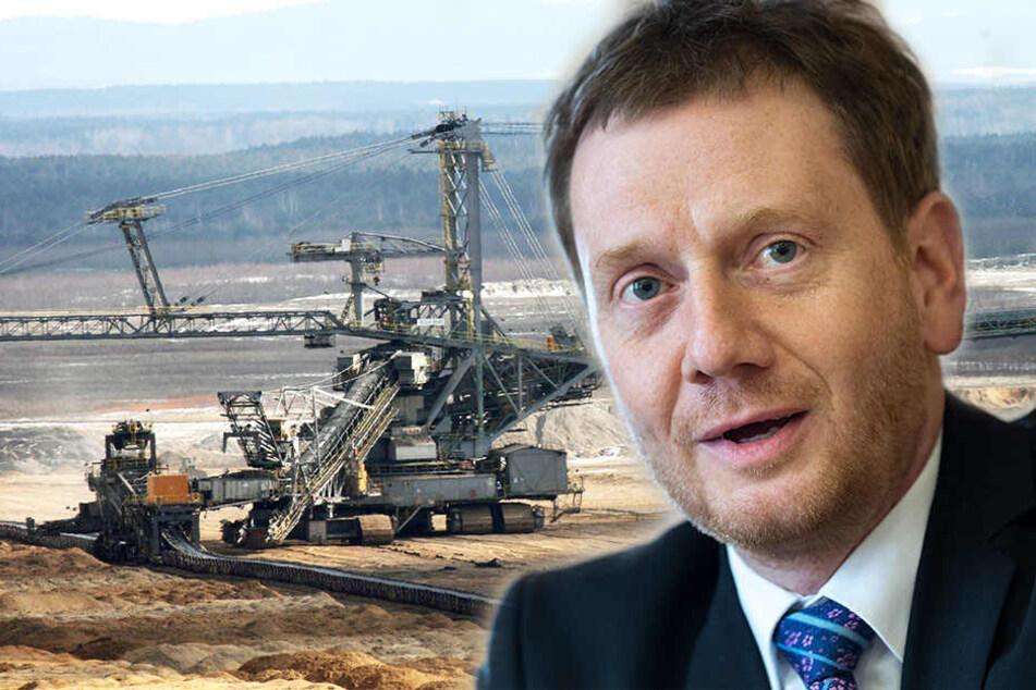 Sachsens Ministerpräsident Michael Kretschmer (42, CDU) wird unter anderem der Mitteldeutschen Braunkohlegesellschaft einen Besuch abstatten.
