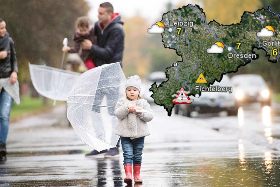 Mit dem Frühling ist erstmal wieder Schluss, der Winter gewinnt in manchen Teilen Sachsens die Oberhand.