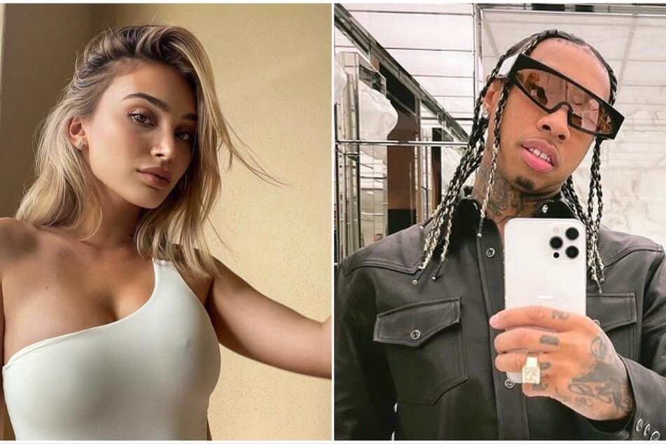 On Tuesday, Tyga (r) was arrested and held on bail for a domestic assault charge. The rapper's ex-girlfriend Camaryn Swanson (l) shared graphic photos of injuries she claimed he caused.