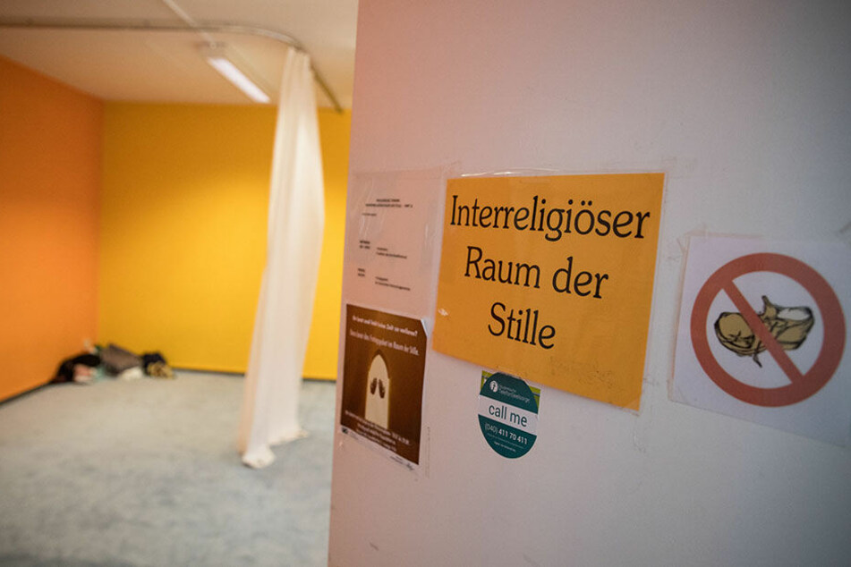 """Blick in den """"Raum der Stille"""" auf dem Campus der Universität Hamburg."""
