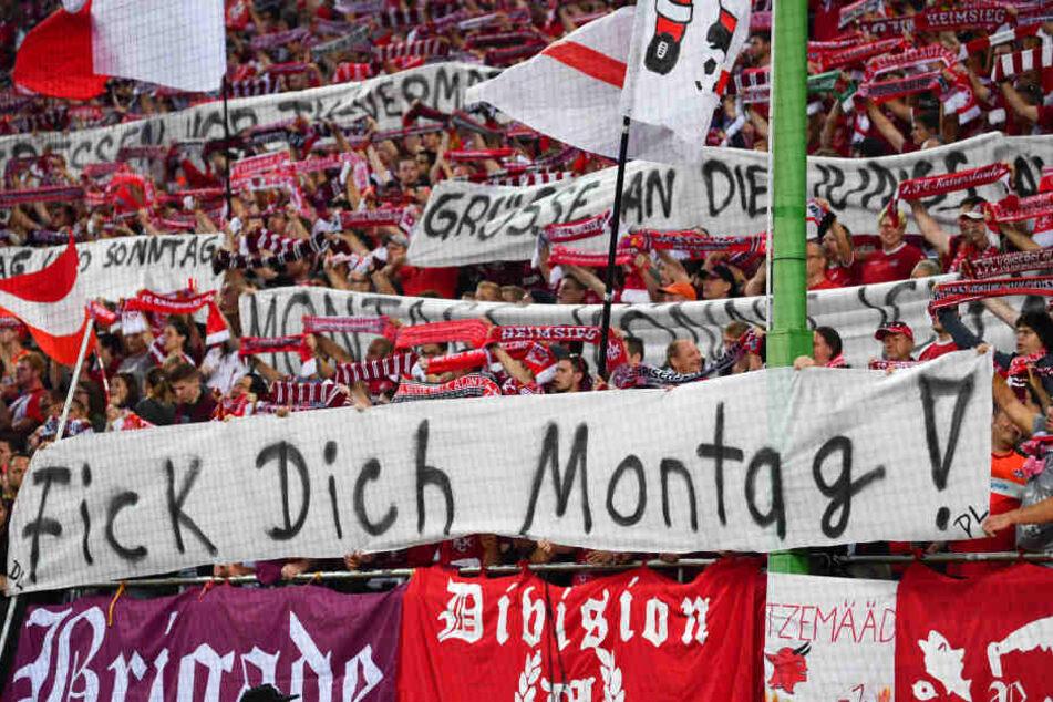 In ihrem Groll lassen sich die Fans der Bundesligisten auch gerne zu eindeutigen Aussagen hinreißen.