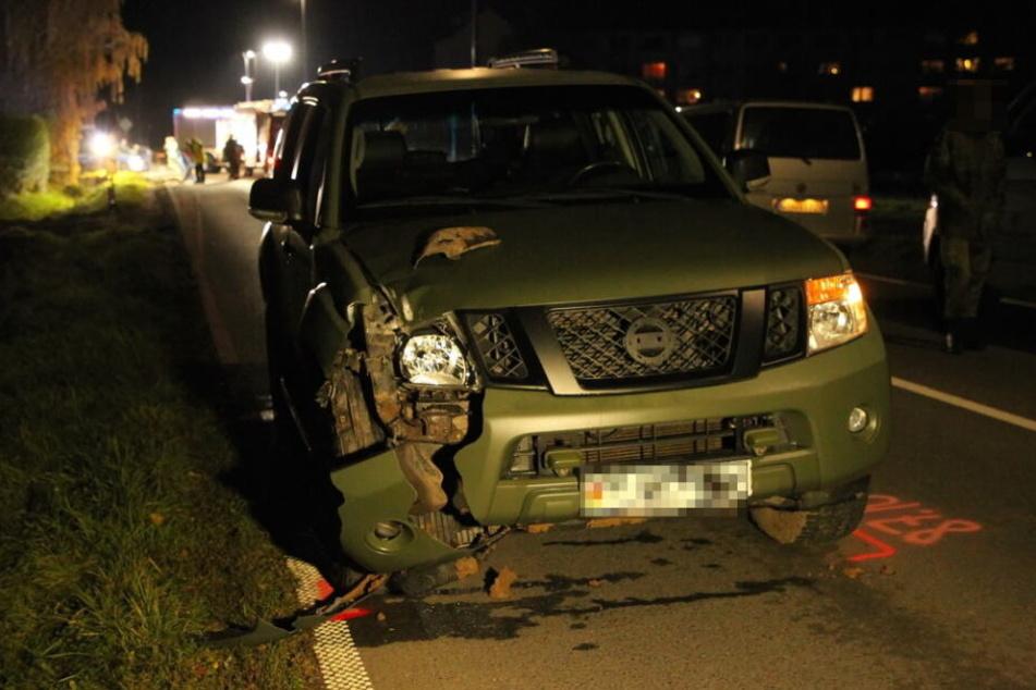 Ein 37-Jähriger erfasste mit seinem Bundeswehr-Dienstwagen einen Fußgänger.