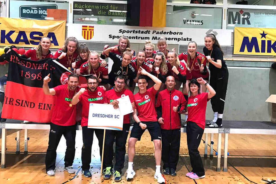 """Du """"U20"""" des Dresdner SC feierte am Wochenende ihren DM-Titel in Paderborn"""