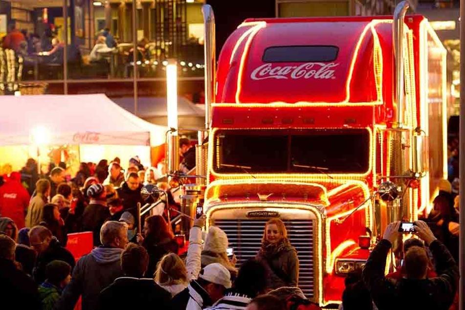 Am Samstag rollen die Coca-Cola-Trucks durch Grimma.