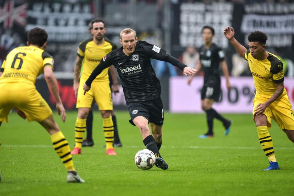 Sebastian Rode fehlt gegen Borussia Mönchengladbach.