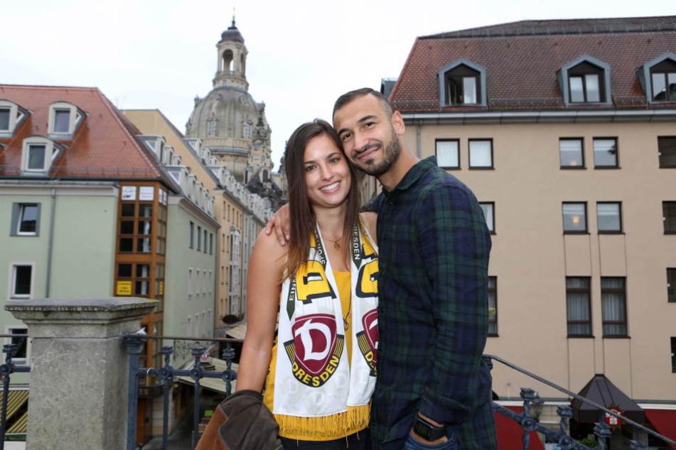 Gogia mit seiner Freundin Andrea, die er während seiner Zeit in Augsburg kennenlernte.
