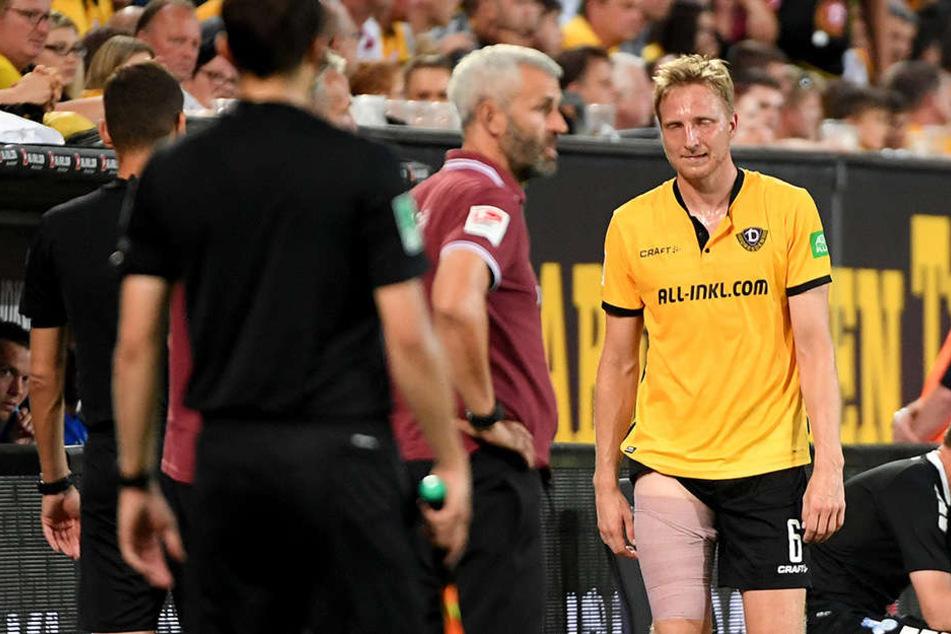 Marco Hartmann (30, rechts) musste verletzungsbedingt vom Feld.