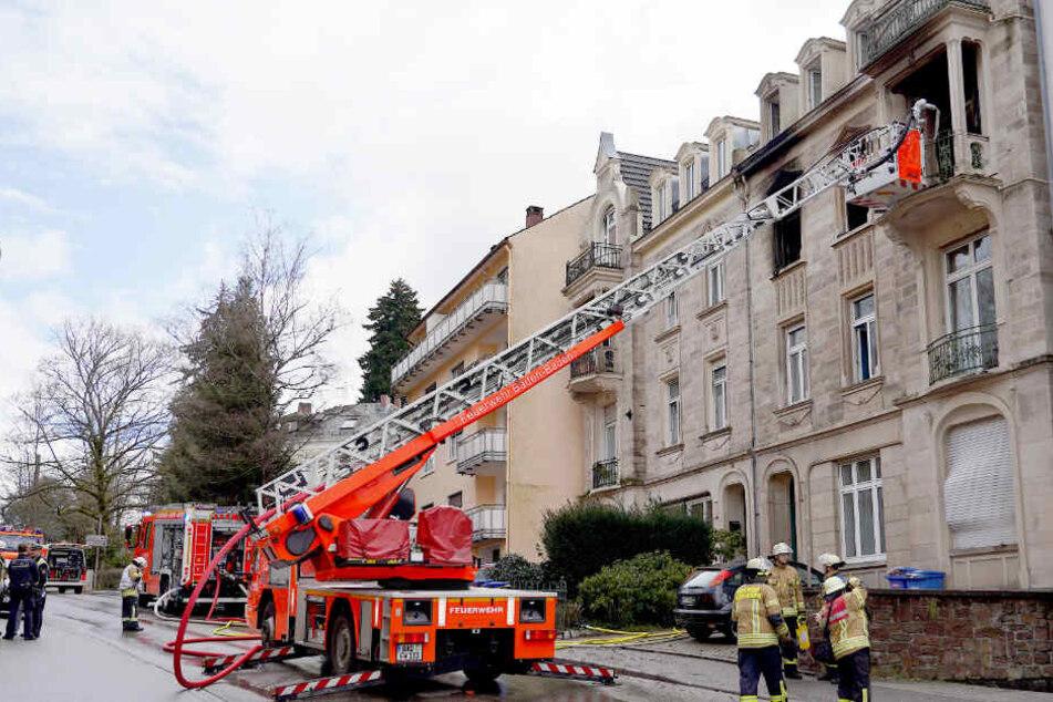 Feuerwehr-Einsatz in einer Wohnung in Baden-Baden.