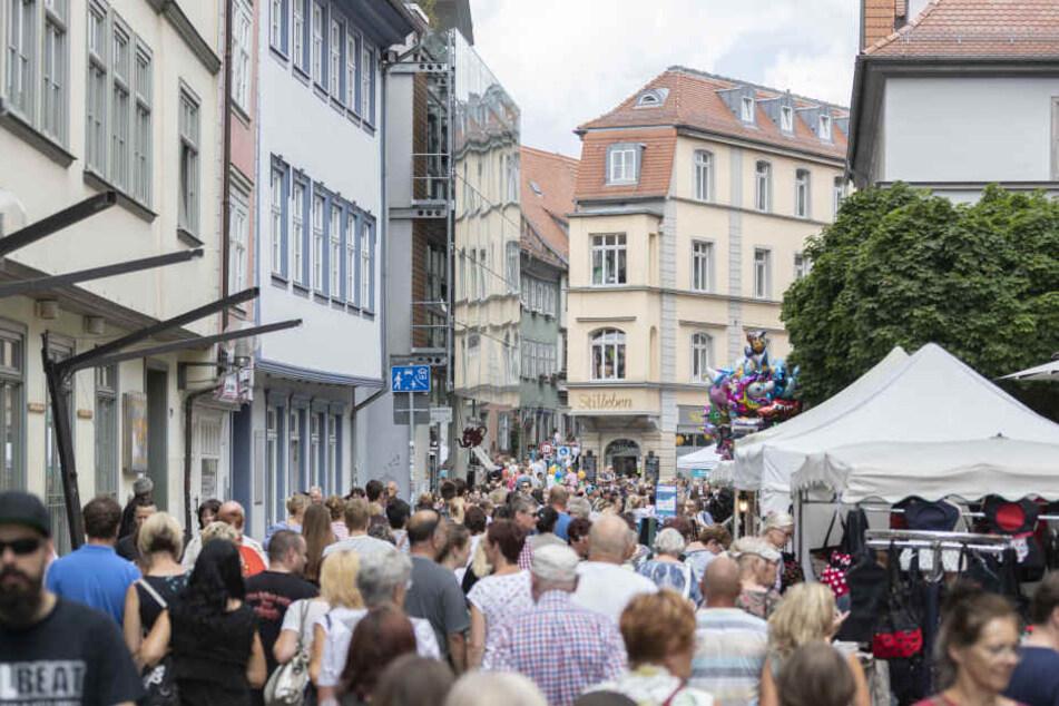 Voller Menschen war die Erfurter Innenstadt an den drei Tagen.
