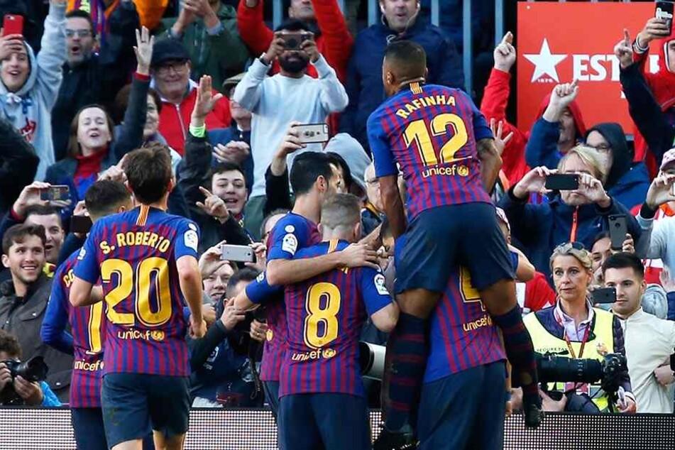 """Kollektives Ausrasten bei Barcelona. Den """"Königlichen"""" aus Madrid wurden die Grenzen gezeigt."""