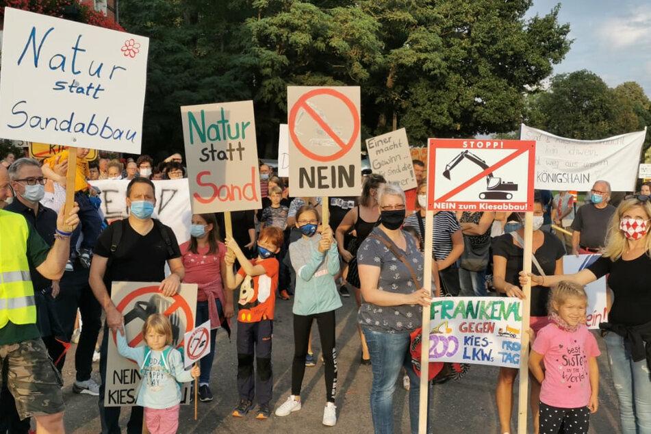 Chemnitz: Geplante Riesen-Kiesgrube: Anwohner protestieren weiter