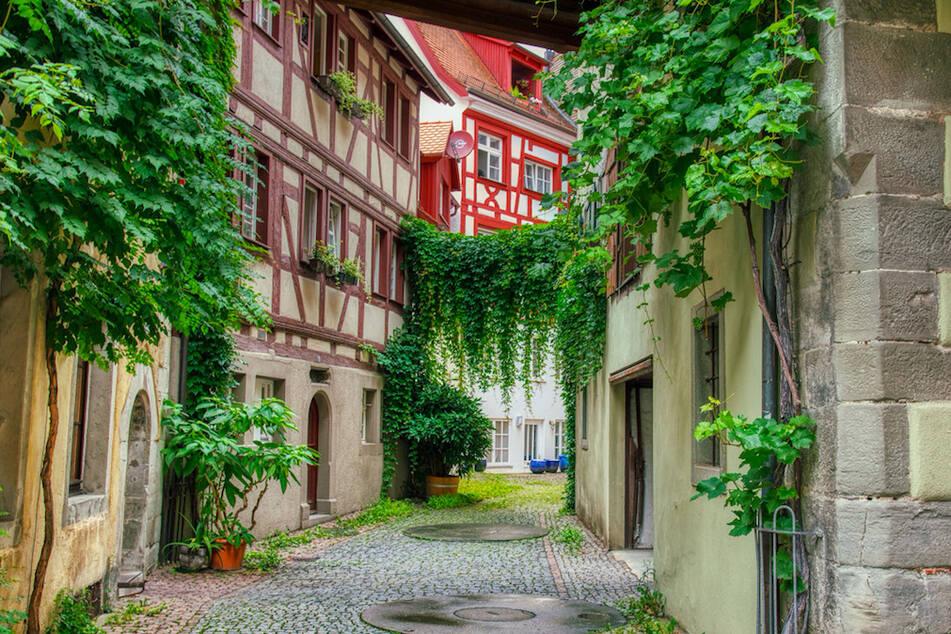 Eine Straße in Meersburg.