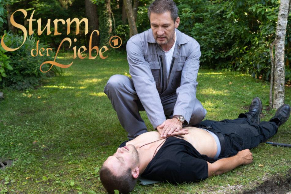 Sturm der Liebe: Christoph versucht Tim zu reanimieren.