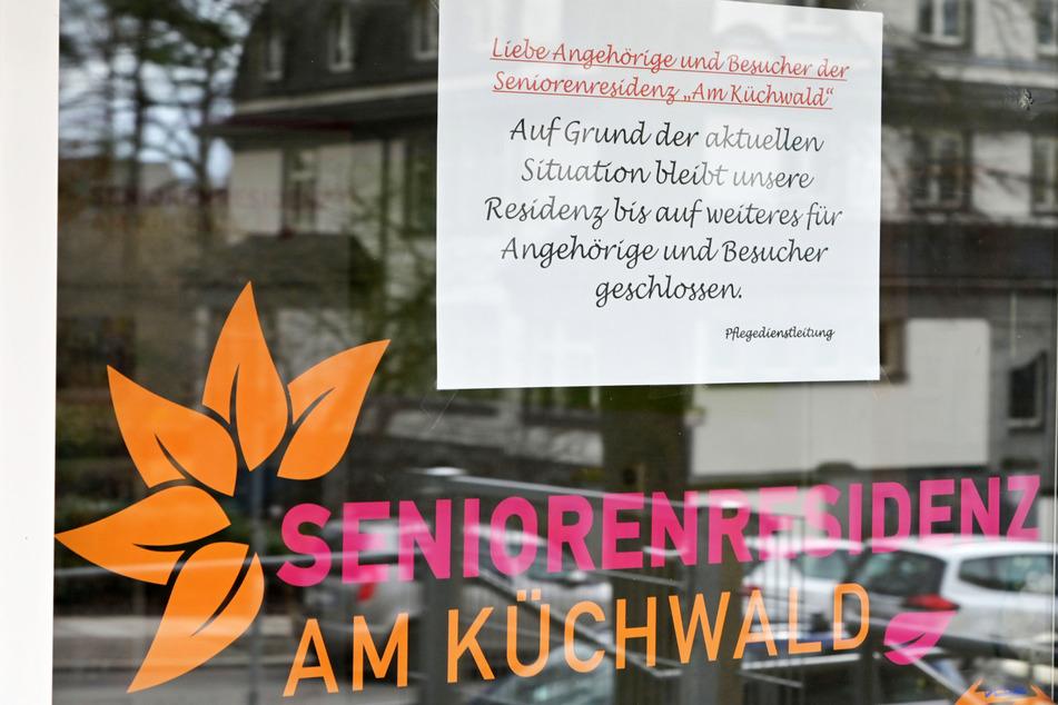 """Die Seniorenresidenz """"Am Küchwald"""" in Chemnitz ist für Besucher gesperrt."""