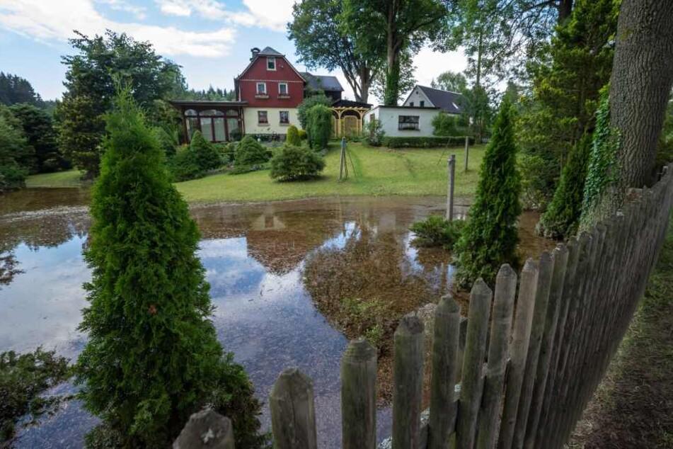 Hier war einmal ein Garten: Die Hochwasser schufen in Schönlind einen neuen Dorfteich.
