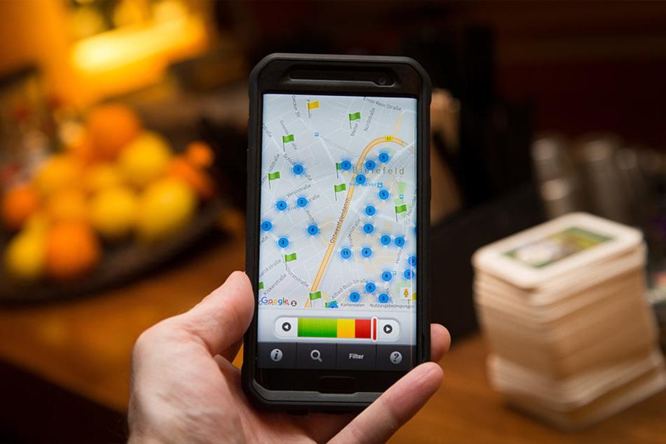 """Auch in Bielefeld sollte die App """"appetitlich"""" für mehr Durchblick in der Gastronomie sorgen."""