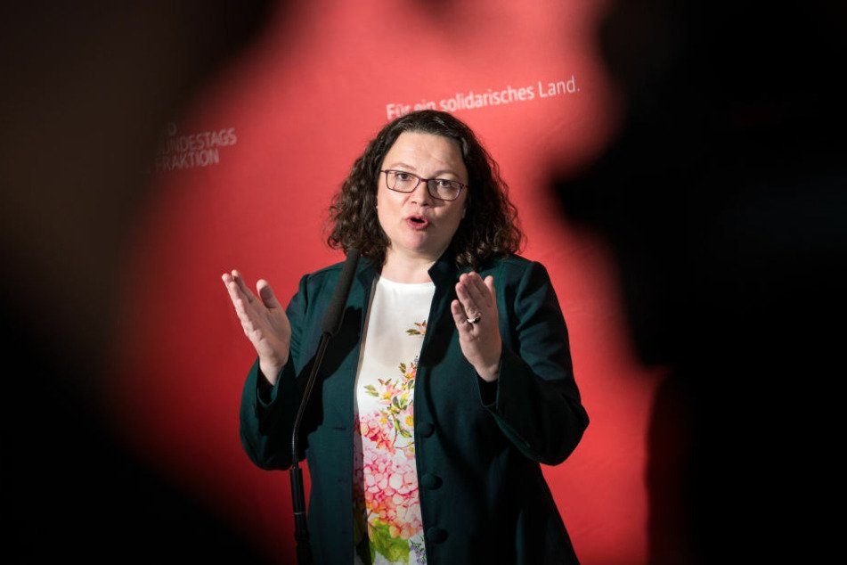 Andrea Nahles (48) ist seit dem 22. April 2018 Vorsitzende der SPD.