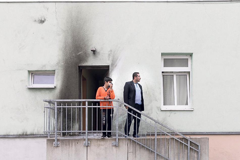 Eines der Anschlagsziele war die Moschee in Dresden-Cotta. Es entstand zum  Glück nur Sachschaden.
