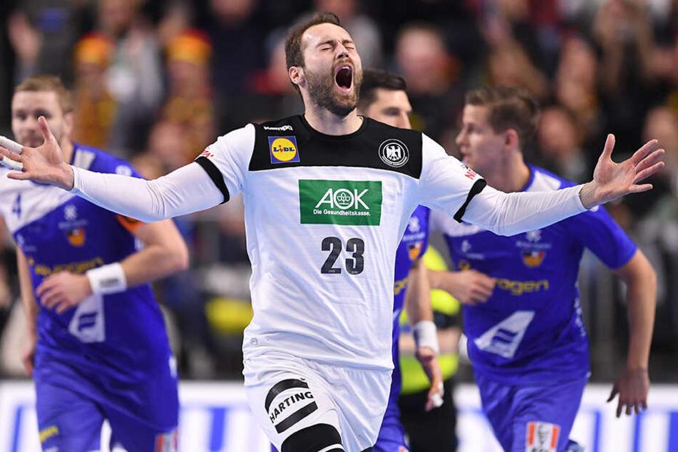 """Das DHB-Team um Steffen Fäth braucht gegen Kroatien am Montag """"nur"""" einen Sieg, um vorzeitig ins Halbfinale einzuziehen."""