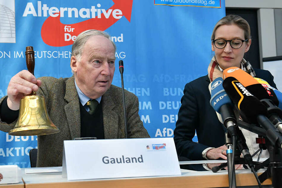 Alexander Gauland und Alice Weidel bei der AfD-Pressekonferenz am Sonntag in Berlin.