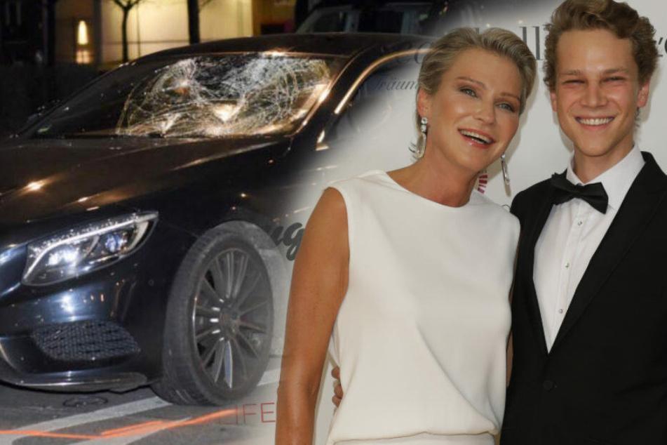 Der 26-jährige Karl Bagusat (r) neben seiner Mutter Stephanie Gräfin von Pfuel.