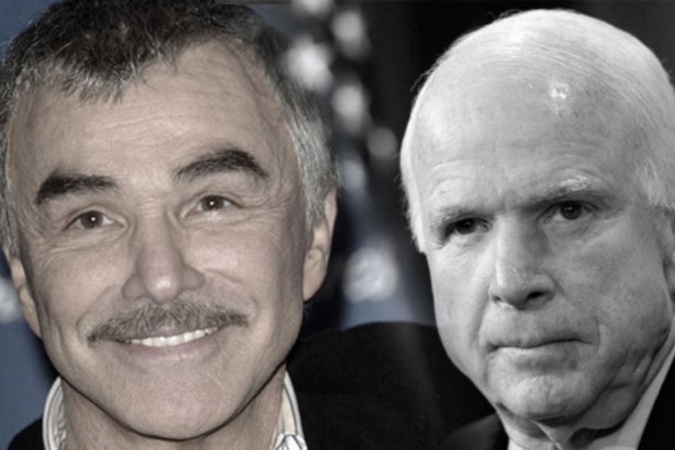 Burt Reynolds und John McCain.