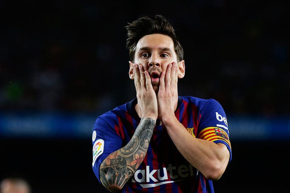 Lionel Messi kann es nicht fassen: Das letzte Ligaspiel verlor der FC Barcelona beim damaligen Tabellenletzten CD Leganes mit 1:2.