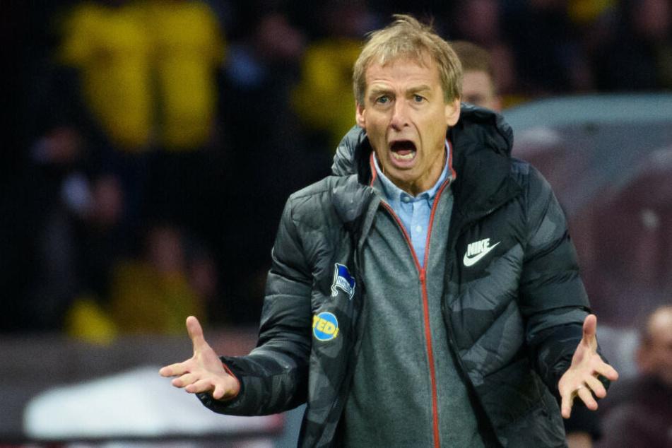 Jürgen Klinsmann bei seiner Heimspielpremiere gegen Borussia Dortmund.