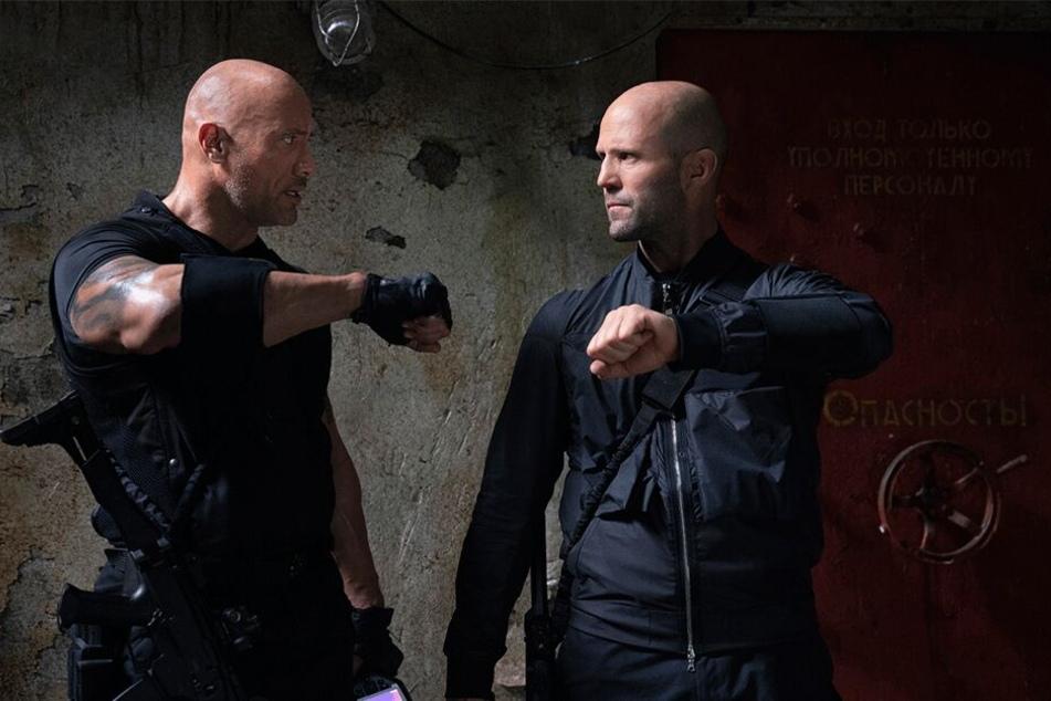 Zwei coole Typen auf wichtiger Mission: Dwayne Johnson als Luke Hobbs und Jason Statham als Deckard Shaw.