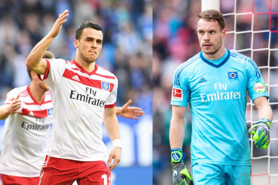 Filip Kostic (l) und Christian Mathenia (r) werden den Hamburger SV mit ziemlicher Sicherheit verlassen.