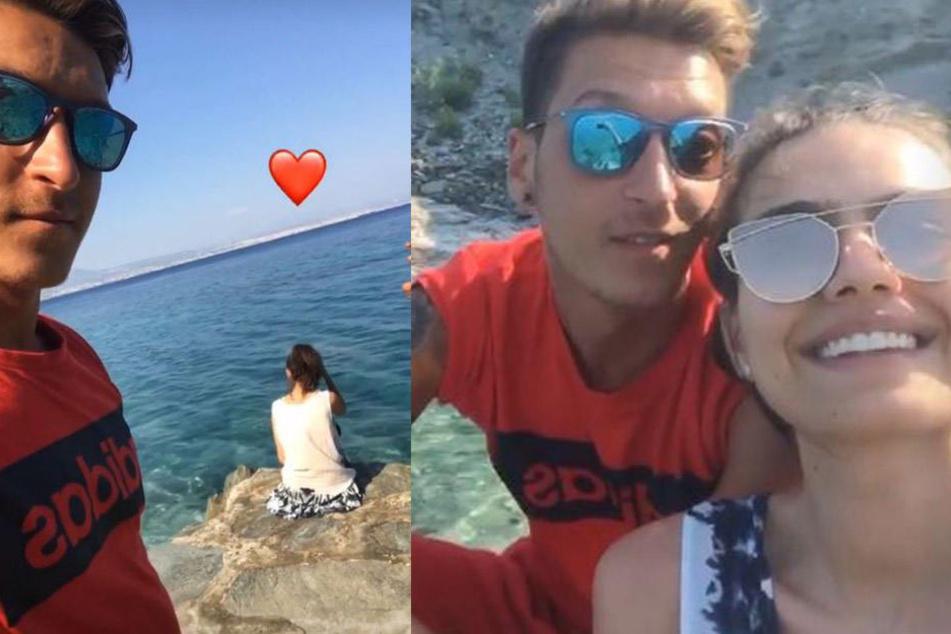 Zeigt uns Mesut Özil hier seine neue Freundin?