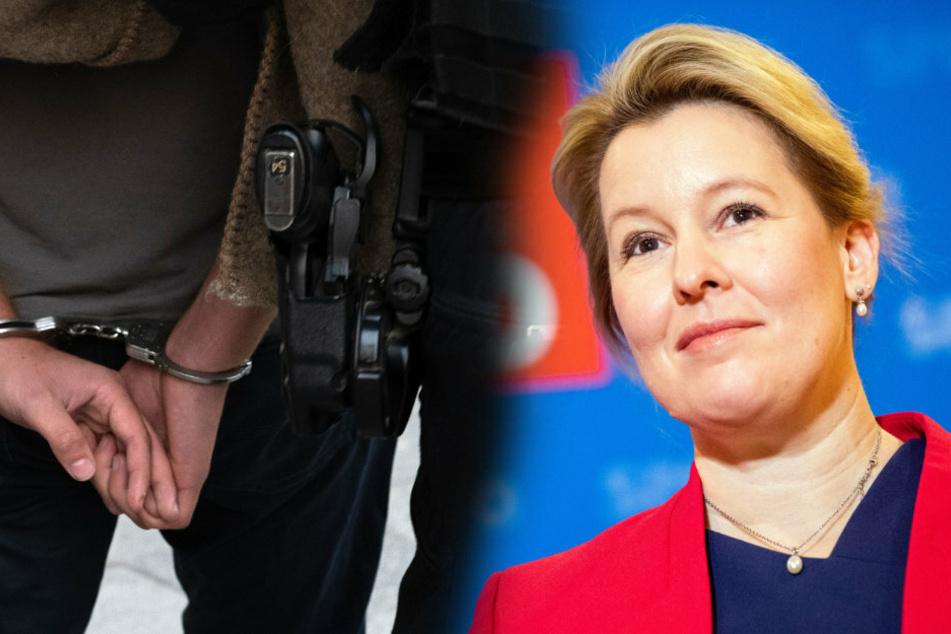 Giffey mit Rückenwind nach Wahl: Kampfansage an Berliner Clan-Familien
