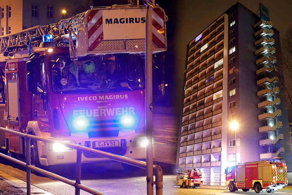 Großeinsatz! Brandalarm in Chemnitzer Hochhaus