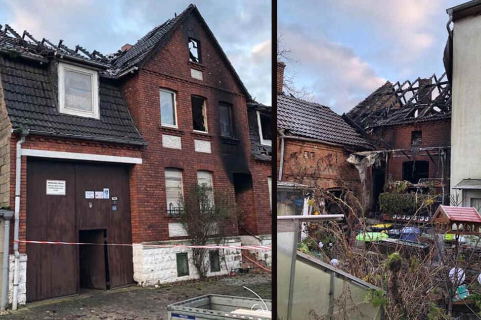 Der Brandort in Baben am Tag nach dem verheerenden Feuer.
