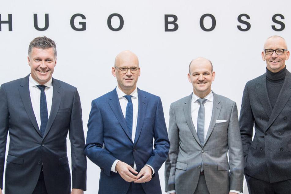 Vorstand der Hugo Boss AG (v-r): Bernd Hake, Mark Langer, Yves Müller und Ingo Wilts.