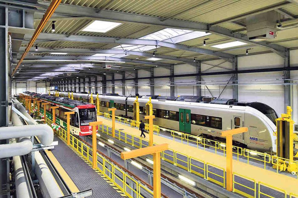Die Züge werden regelmäßig im  neuen Eisenbahnbetriebshof am Hauptbahnhof gewartet.