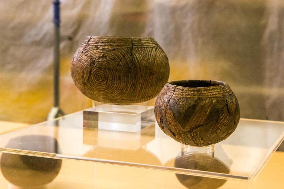 Diese verzierten Keramikgefäße warfen die Ur-Sachsen vor 7000 Jahren in den Brunnen, oder sie entglitten ihren Händen.