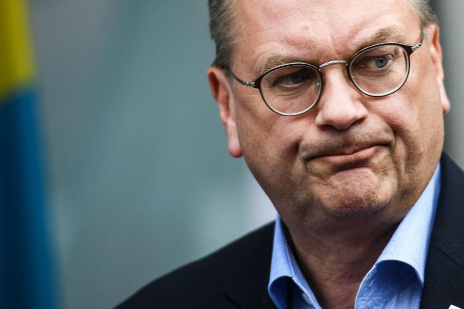 Das Foto aus dem Juni 2018 zeigt den DFB-Präsidenten Reinhard Grindel.