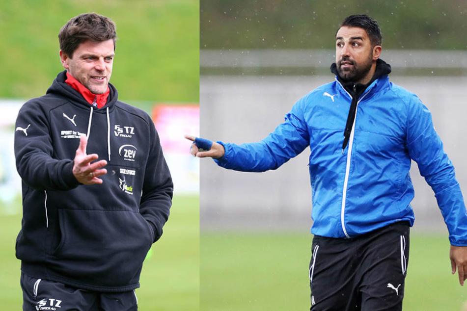 Alte Freunde: Torsten Ziegner (FSV, links) und Ismait Atalan (Sportfreunde Lotte).