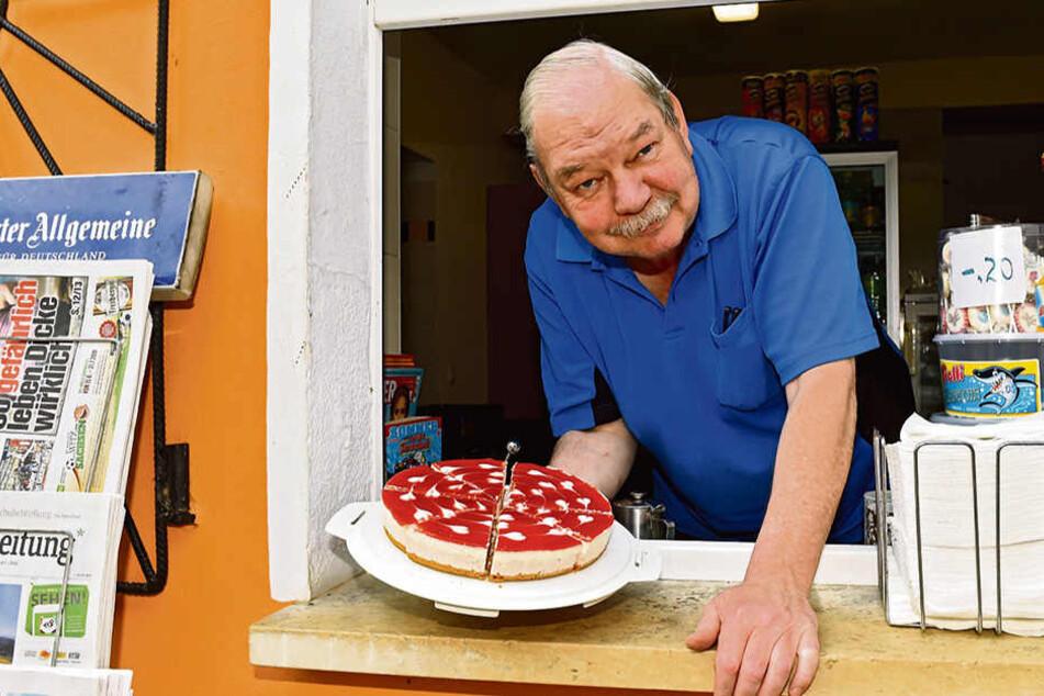 Frank Alber (62) betreibt den Stauseebad-Imbiss seit 31 Jahren.
