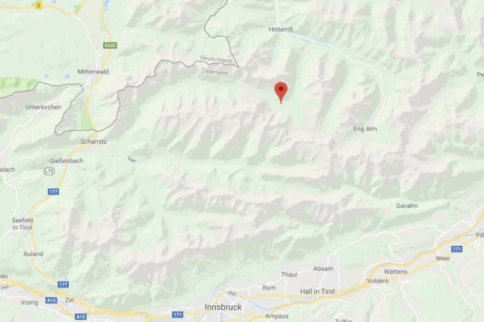 Die beiden Unglücke im Karwendelgebirge ereigneten sich an zwei verschiedenen Orten.
