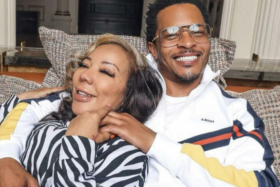 T.I. (r) and his wife, Tiny (l), are under investigation for allegedly assaulting women.