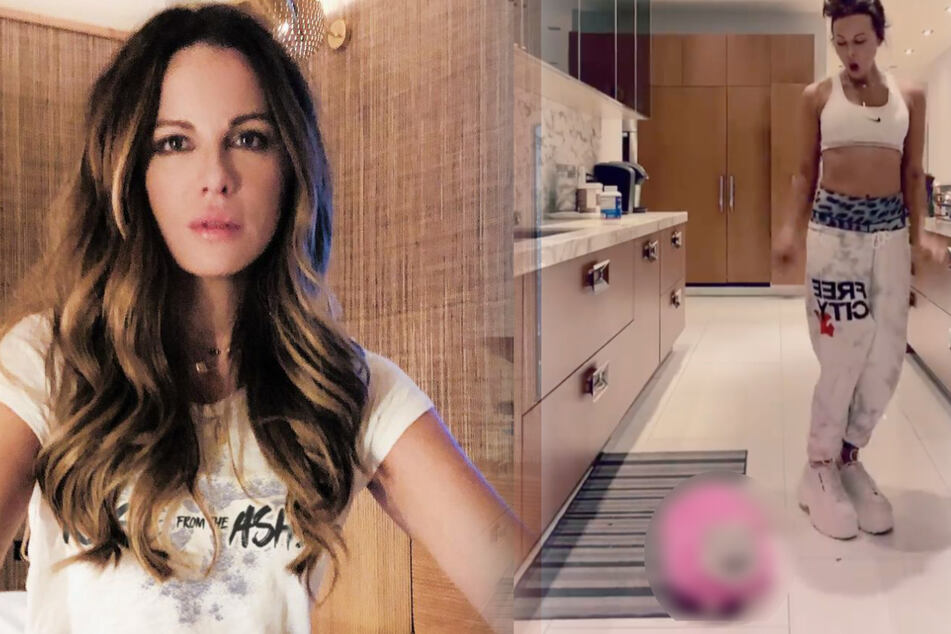 Kate Beckinsale posts Instagram dance video, but her cat steals the show!