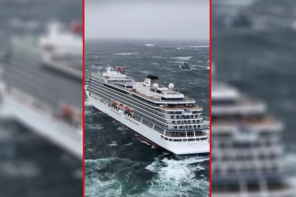 """Das Kreuzfahrtschiff """"Viking Sky"""" driftet in Richtung Land."""