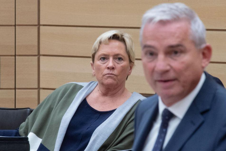 Baden-Württembergs Innenminister Thomas Strobl (r.) nicht mehr CDU-Spitzenkandidat. Neben ihm sitz seine wahrscheinliche Nachfolgerin Susanne Eisenmann (CDU).