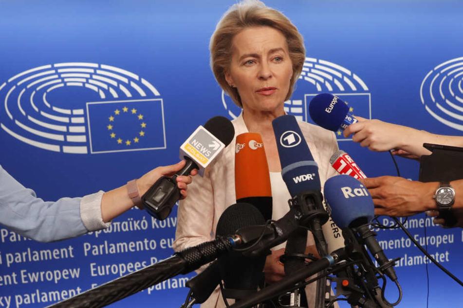 Ursula von der Leyen war am Dienstag auf dem EU-Gipfel als Kommissionspräsidentin nominiert worden.