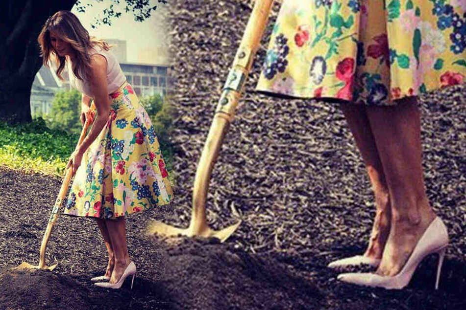 Melania Trump: Gartenarbeit nur in High Heels!